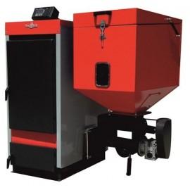 Cazan cu funcționare pe pellet-biomasă și lemne ECOBIO 40